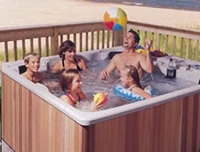 hot tub bathing is fun!