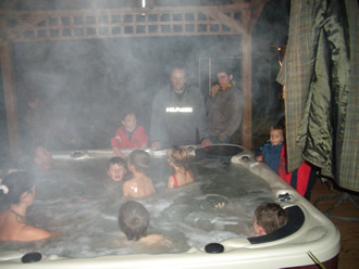 eco one takes a hammering in the hot tub