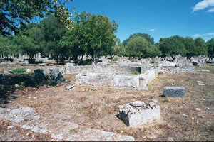 the ruins of greek hot tubs built around 300BC
