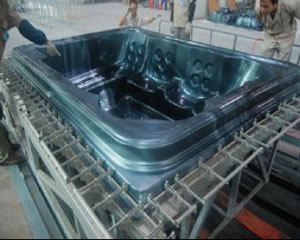 hot tub lucite acrylic shell mould
