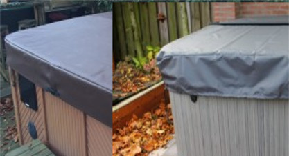 Hot Tub Cover Caps keep your hot tub cover protected from the harsh winter elements