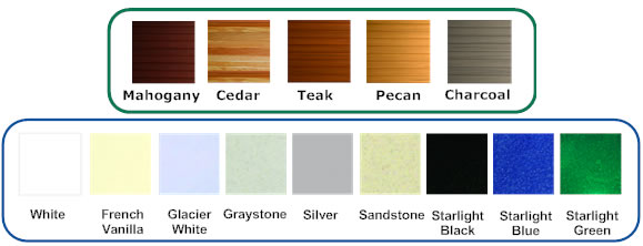 Nordic Crown II hot tub shell and cladding colour combinations available