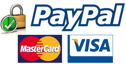 secure on-line payments using mastercard, visa or paypal