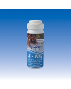 Aquasparkle 4-way chlorine and bromine test strips