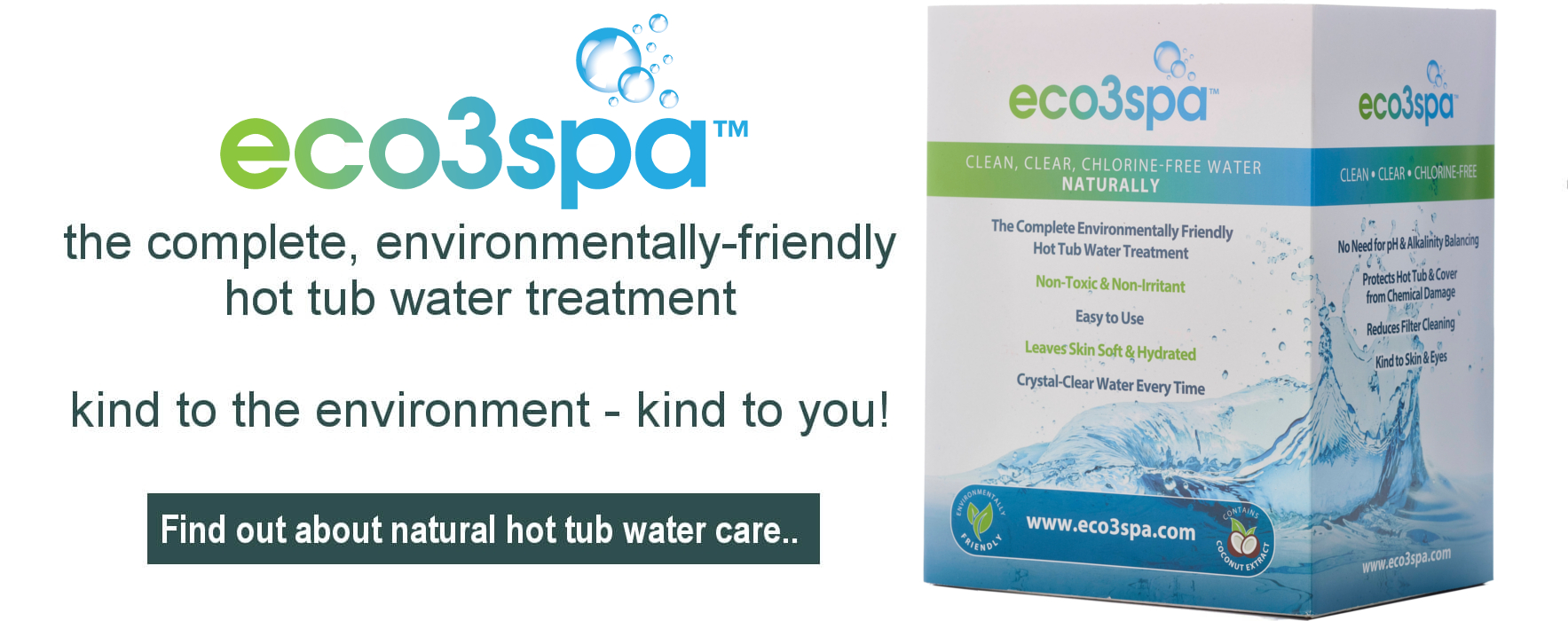 Environmentally friendly hot tub water treatment