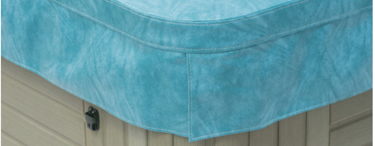 Sky blue deluxe hot tub cover