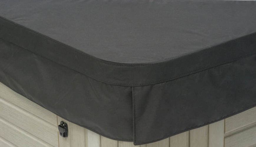 polyester hot tub cover in black