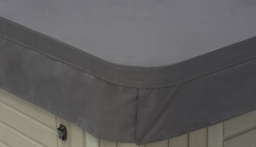 Polyester hot tub cover in grey
