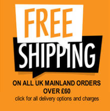 free delivery for all orders over £45 to UK Mainland